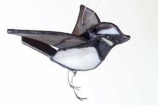 Åsa Maria Hermansson Stained glass White wagtail bird