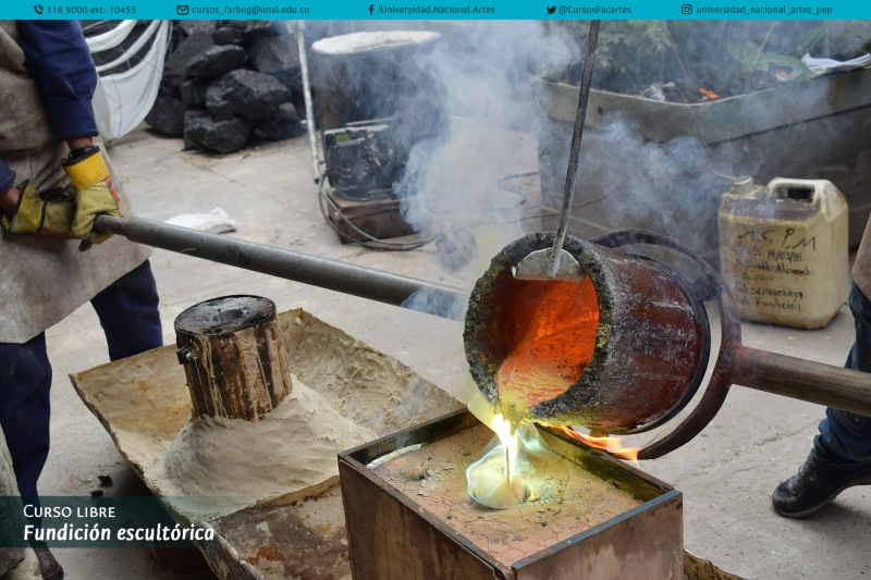 Bronze casting - Photo credit: Universidad Nacional de Colombia